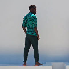 PARTY UP PANTS - EMERALD - Light Cotton Drill