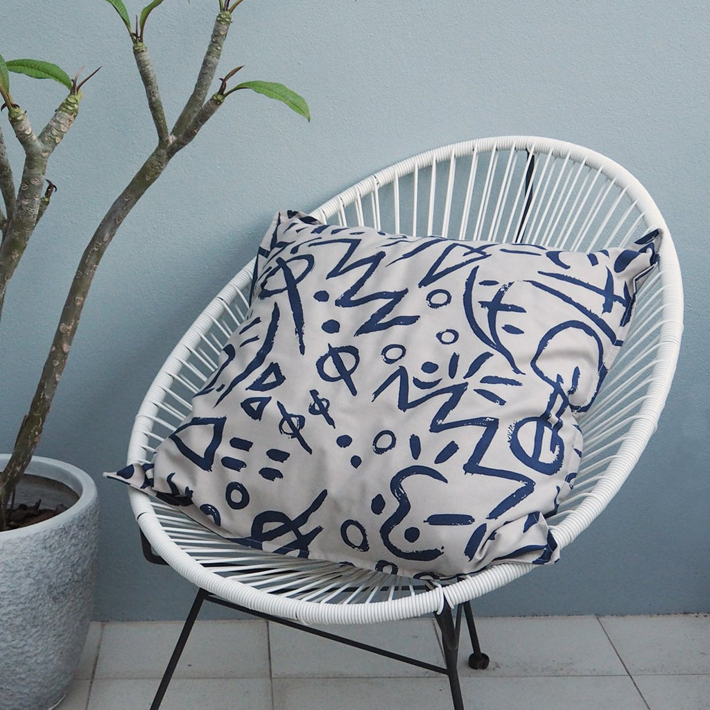 EURO CUSHION COVER - Deep Sea Print - Cotton