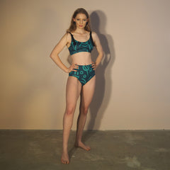 High Swim Pant - EMERALD VERSE 2 Print - Stretch Neopoly