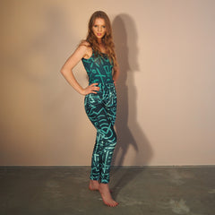 ! NEW ! JEANIES - EMERALD VERSE 2 Print - Stretch Velvet