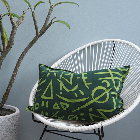 SALE - CUSHION COVER - Forrest Print - Cotton