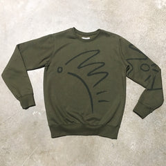 XS - Unisex Habitat Sweater - Olive Cotton Fleece