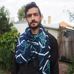 BIG SCARF/SARONG - MAN O WAR Original print - Cotton Voil