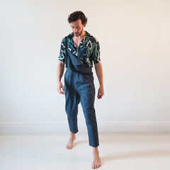 SOLD OUT - UNISEX OVERALLS - Maritime - Cotton Linne