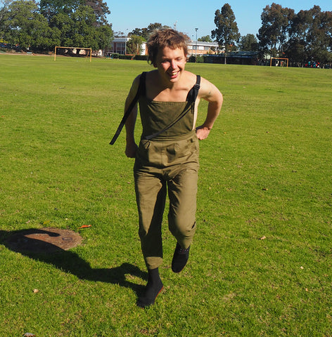 LAST ONES - UNISEX OVERALLS - Olive Oil - Cotton Linne