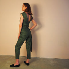 ! NEW ! KOFUKAN WRAP TOP - OLIVE - Cotton