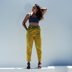 SALE - SIZE 16 - PARTY UP PANTS - CHARTREUSE - Cotton