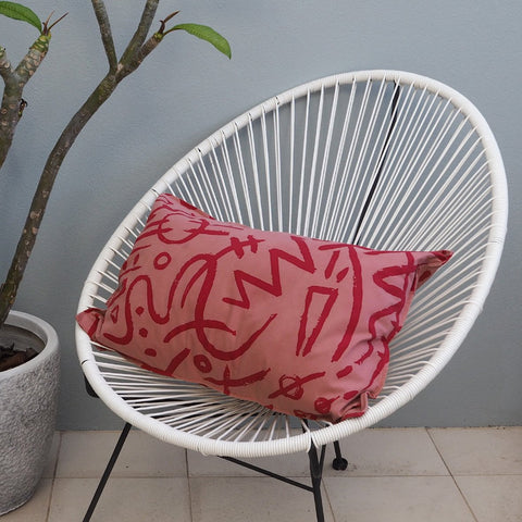 SALE - CUSHION COVER - Scarlett Print - Cotton