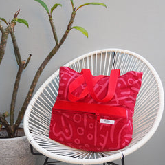 Big Bag - SCARLETT VERSE 2 Print - Cotton Canvas