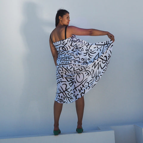BIG SCARF/SARONG - UPTOWN Original print - Cotton Voil