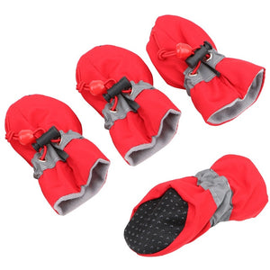 Waterproof heat proof dog shoes