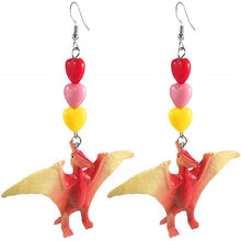 Load image into Gallery viewer, Dinosaur Drop Earrings