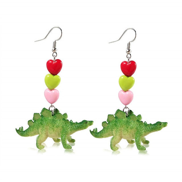 Dinosaur Drop Earrings