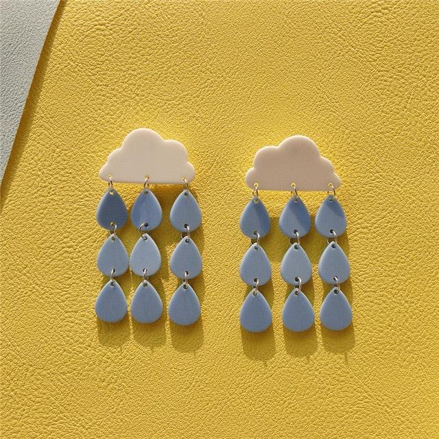 'HEY YOU' BIG RAIN DROP EARRINGS