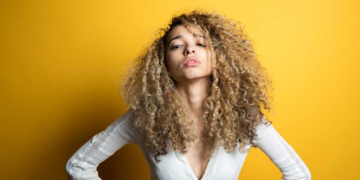 Women with curly hair