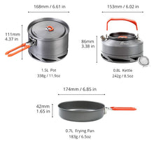 Load image into Gallery viewer, Camping Utensils Dishes Cookware Set