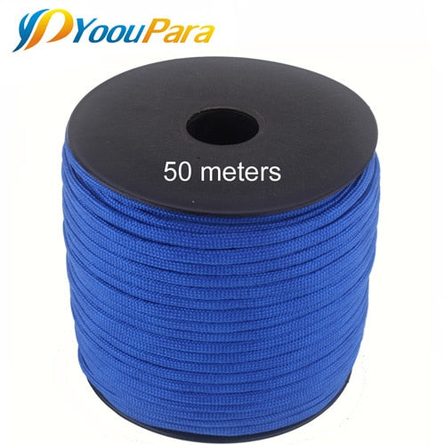 252 Colors 50 M/Spools Paracord 550 Paracord Rope Outdoor Camping Survival Wind Rope