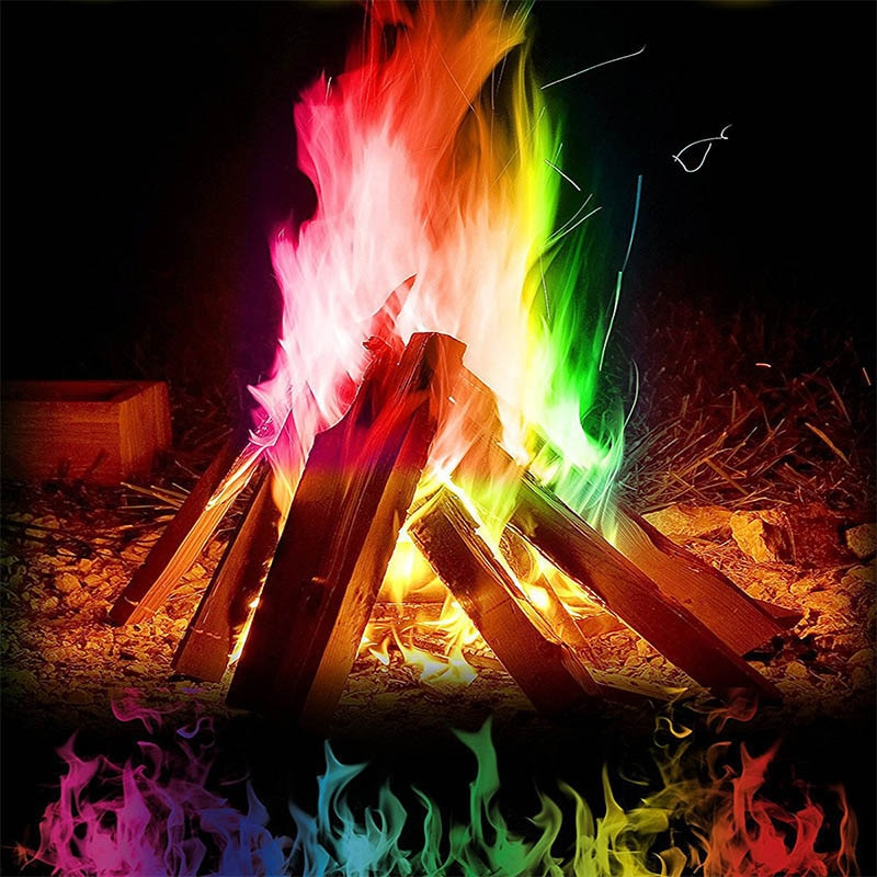 Magic Fire Mystical Magic Tricks Colorful Flames Powder Bonfire Sachet