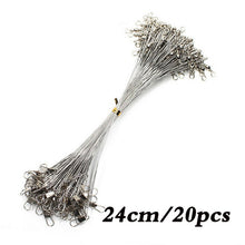 Load image into Gallery viewer, 20PCS Anti Bite Steel Fishing Line Steel Wire Leader