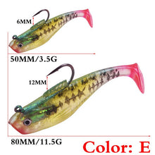 Load image into Gallery viewer, 1PCS  Silicone Fish  Lures 50mm 80mm Jig Wobbler