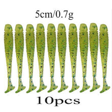 Load image into Gallery viewer, 10pcs/Lot Jig Wobblers Fishing Lures Easy Shiner Maggot Worm Soft Baits
