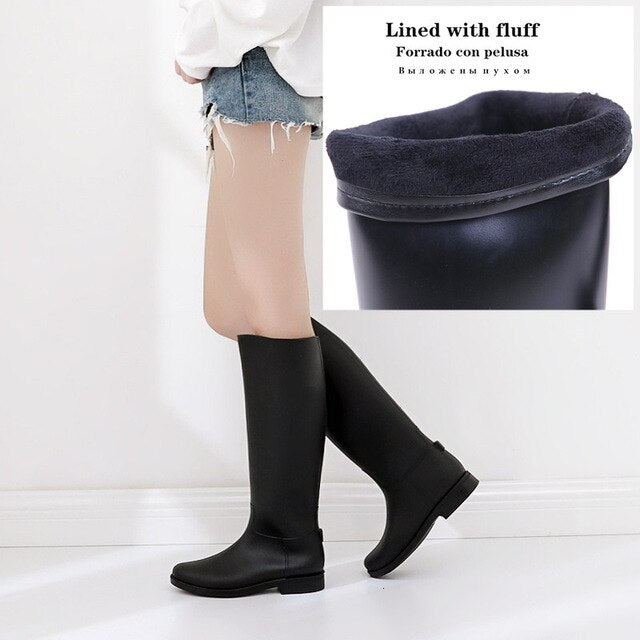 Waterproof High Boots Super Soft Foldable Women Winter Water Snow Non-slip