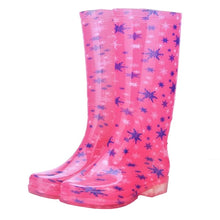 Load image into Gallery viewer, Low Heel Rubber Rain Boots 2019 Waterproof Trendy Jelly Women Knee High Boots