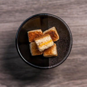 Freeze Dried Grilled Cheese Bites