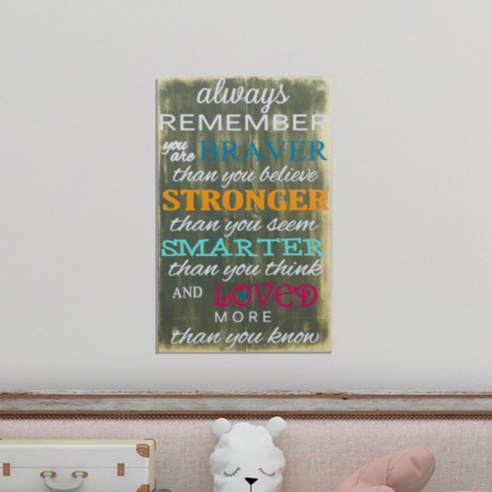 Always Remember You Are Sign