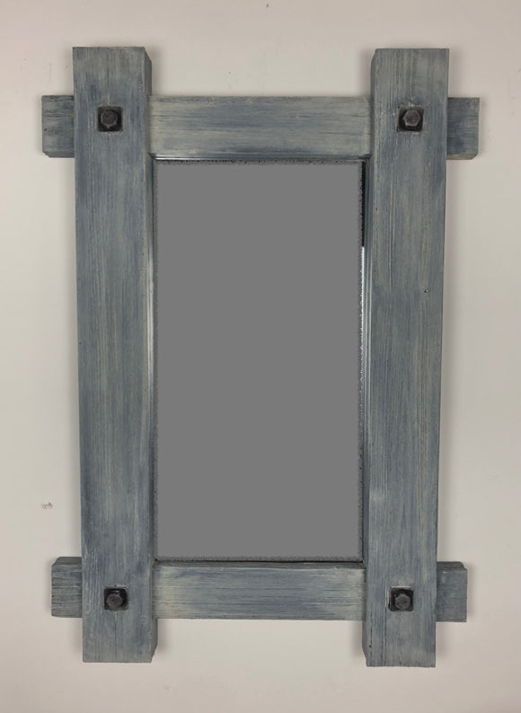Distressed Timber-Look 24x34 Mirror