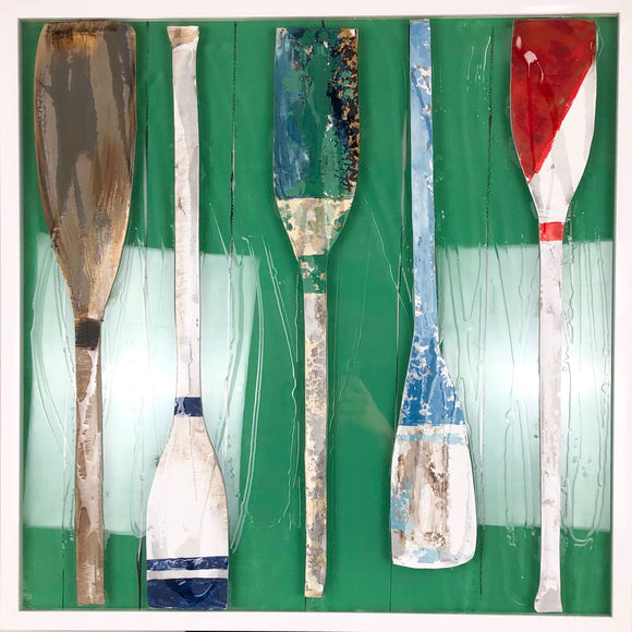 Paddles On Glass 31x31