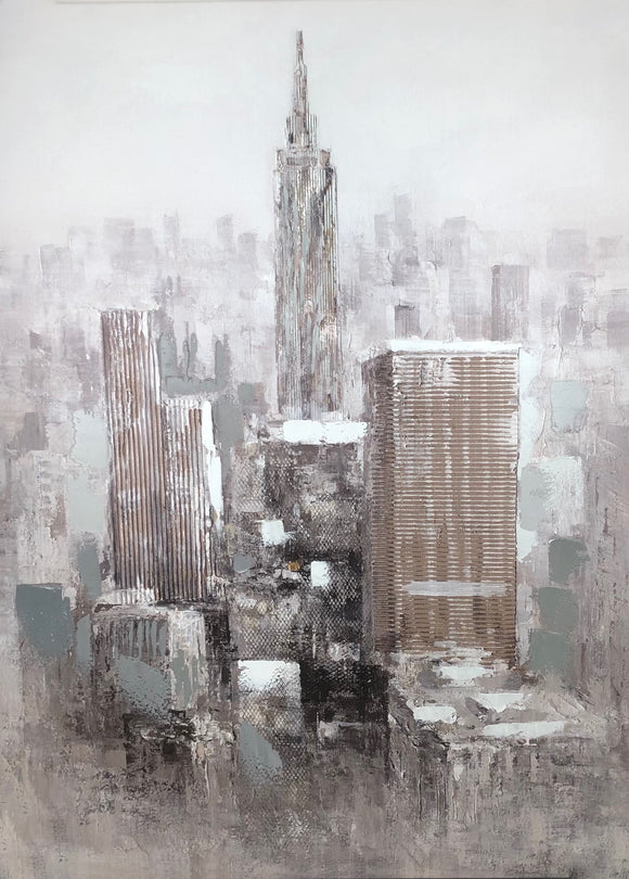 Abstract Cityscape Canvas 30x40
