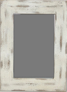 Distressed Cream painted 24x34 Mirror