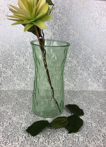 Green Glass Vase 9""