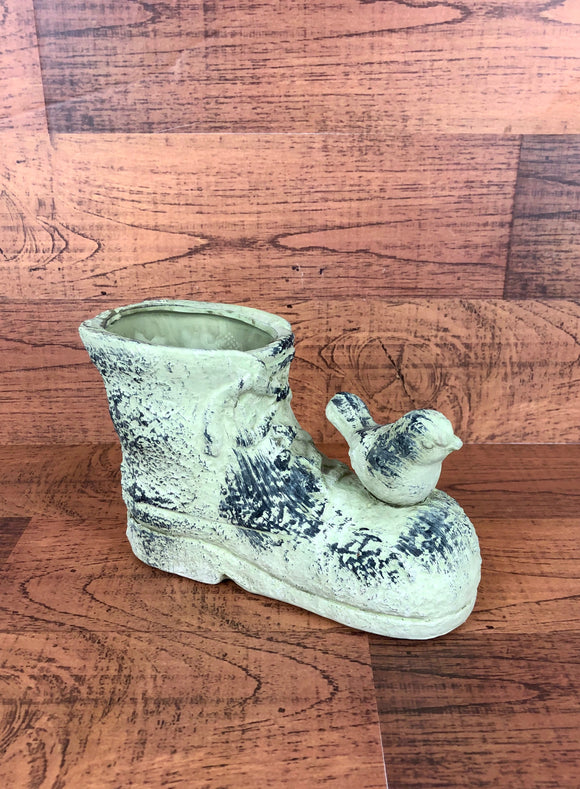 Boot & Bird Floral Pot (Ceramic)