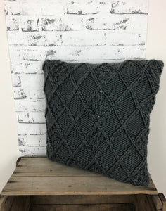 Chunky Knit Throw Pillow 17x17