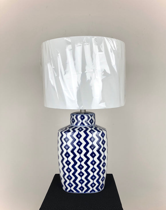 Blue & White Ginger Jar Table Lamp 14x25