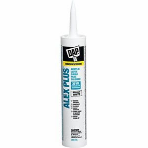 DAP ALEX PLUS (CLEAR) Acrylic Latex Caulk Plus Silicone 10oz.