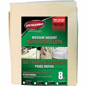 DYNAMIC 4X12 Medium Weight Butyl Drop Cloth