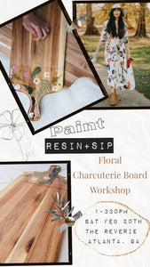 Workshop - Botanical Charcuterie Board - Hosted by The Reverie in Atlanta, GA - FEB 20 at 1-4pm