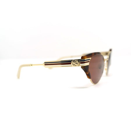 Occhiali da sole Gucci GG0522S Gold Havana & Brown