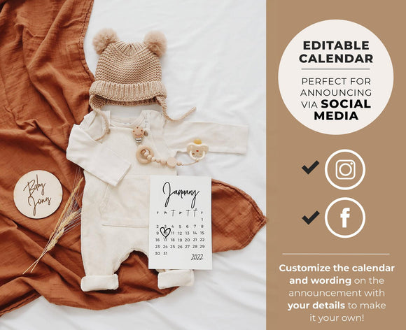 Ellery Social Media Due Date Pregnancy Announcement