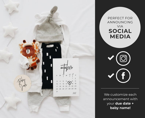 Leo Social Media Due Date Pregnancy Announcement