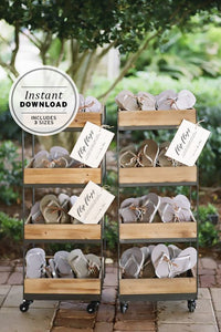 Flip Flops Favors Wedding Sign Printable Instant Download