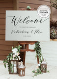 Classic Printable Wedding Welcome Sign Editable Template
