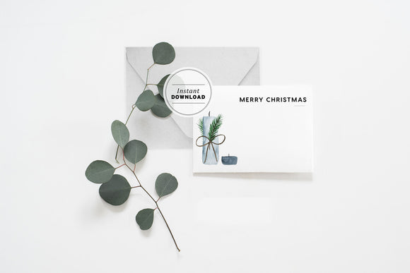 Christmas Gift Card Printable Instant Download