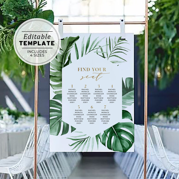 wedding seating chart TUI