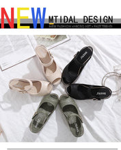 Load image into Gallery viewer, Hot selling buckle and wedge heel comfortable sandals