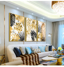 Load image into Gallery viewer, Newest style-Nordic Decoration Golden Leaf Canvas Painting 2