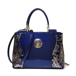 2020 Trend Glossy Openwork Pattern Leather Bag Handbags